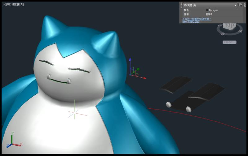 [教學]AutoCAD 3D 卡比獸建模步驟分享 1811