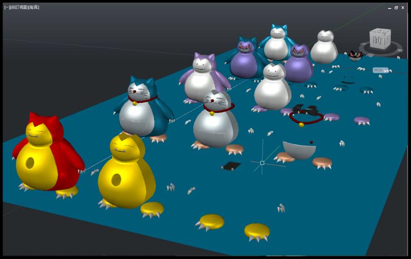 [教學]AutoCAD 3D 卡比獸建模步驟分享 2011