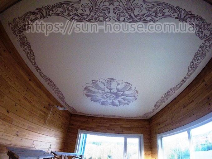 Тканевые натяжные потолки   Izea-a11