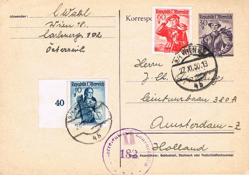 Trachtenserien ANK 887 - 923 und 1052 - 1072 Belege - Seite 10 Pt10