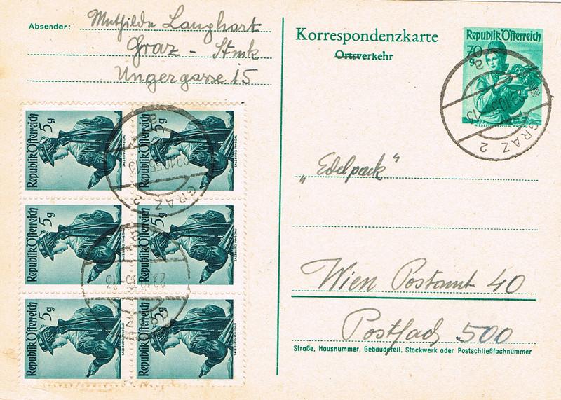 Trachtenserien ANK 887 - 923 und 1052 - 1072 Belege - Seite 10 T10