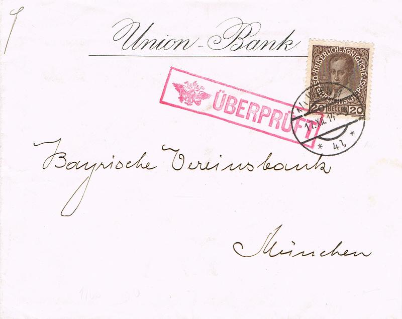 Briefe / Poststücke österreichischer Banken - Seite 4 Ub10