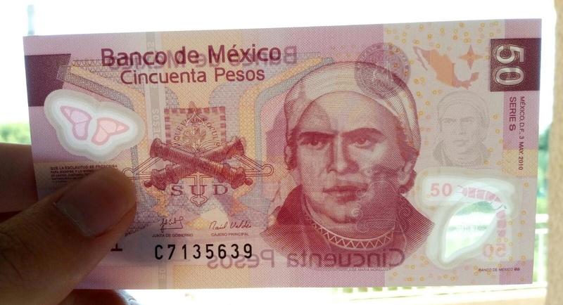 México. 50 pesos 2010. (polímero) Agua10