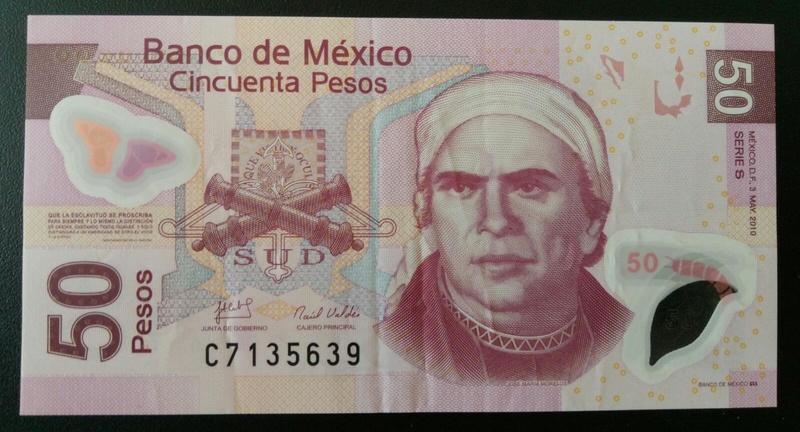 México. 50 pesos 2010. (polímero) Anvers10