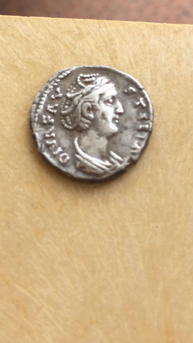 Denario de Faustina I. AETERNITAS. Juno de pie a izq. Ceca Roma. Img_2114