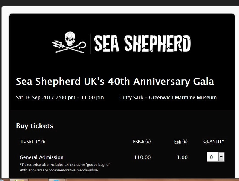 Sea Shepherd UK's 40th Anniversary Gala : an event not to miss !!  Sea110