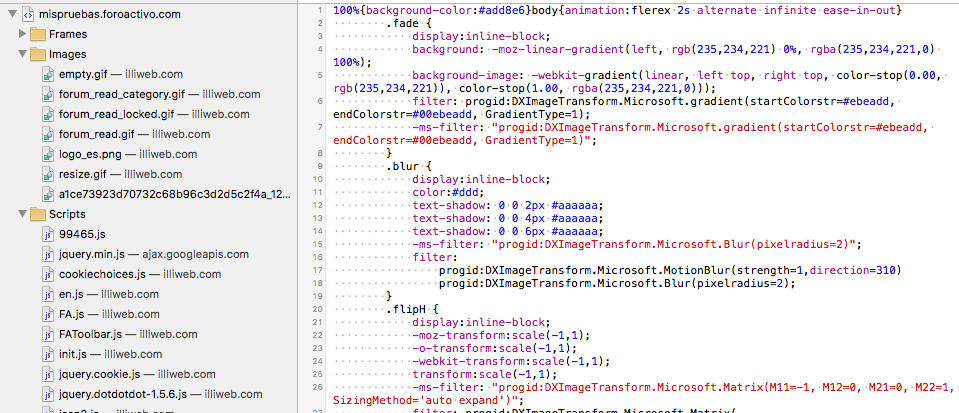 El validador del CSS del P.Admon errores con sintaxis CSS borrados Screen24