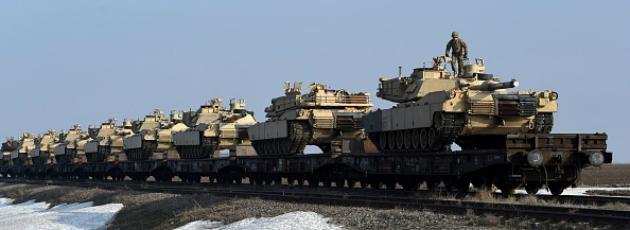 Relève des brigades US dans les pays de l'Est Gettyi10