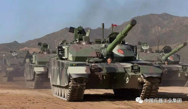 Première série de chars de combat chinois VT4 Vt-4-c11