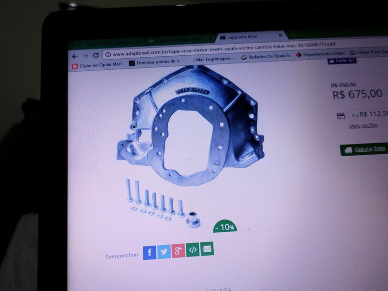 Câmbio Hilux 3.0 mecânica no Opala Sam_0214