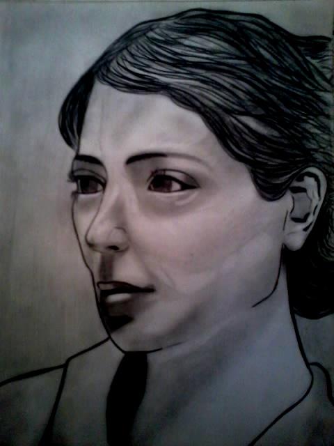 portrait realiste crayon noir  2017-012