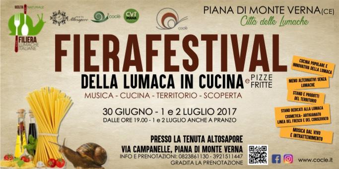 Fierafestival della Lumaca in Cucina a Piana di Monte Verna (CE) Banner11