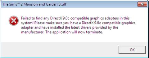 TS2 Directx 9 0c Problems 2 0