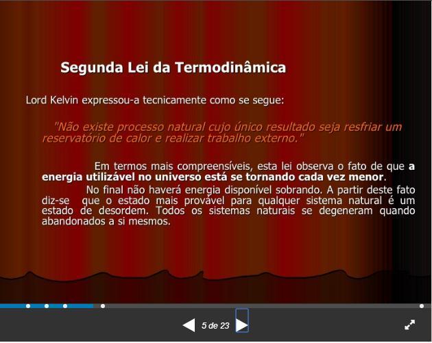 Segunda Lei da Termodinâmica Pg510