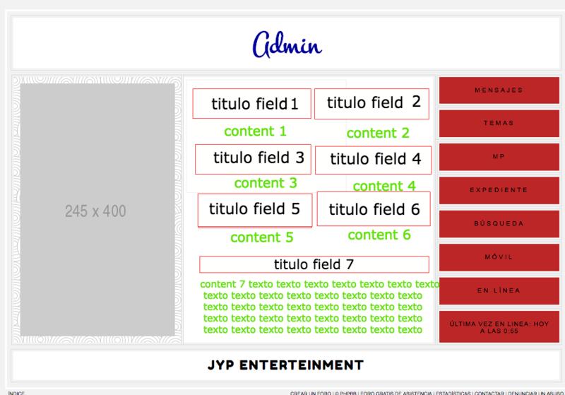Colocar en columnas los campos de perfil en la página de consulta. Sin_ti10