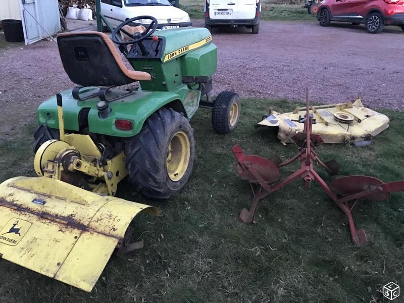 Micro tracteur JD300 de 1976 et accessoires :) F5b31c10