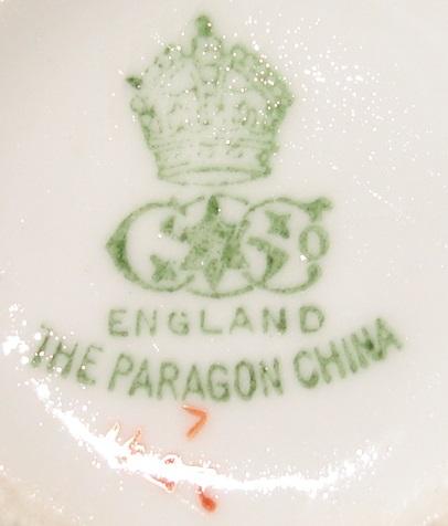 Marks paragon china Paragon China