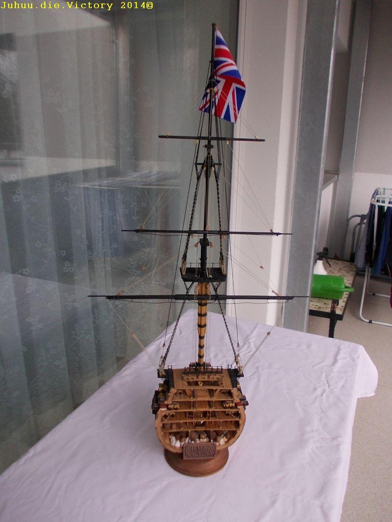 Grossmastschnitt HMS Victory / Corel, 1:100 Dscn2410