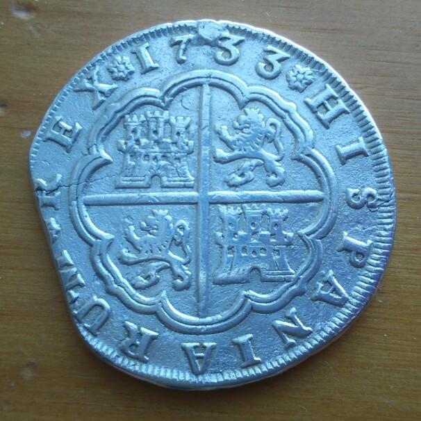8 reales Felipe V 1733 Sevilla PA Cay09316