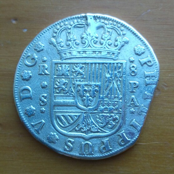 8 reales Felipe V 1733 Sevilla PA Cay09317