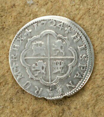 2 reales Luis I 1724 Sevilla variante LUDOUICUS Cay10110
