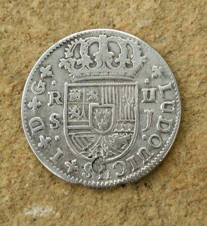 2 reales Luis I 1724 Sevilla variante LUDOUICUS Cay10111