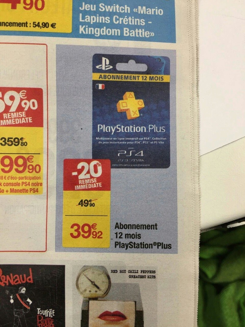 Abonnement  PlayStation Plus @Carrefour 599daf10