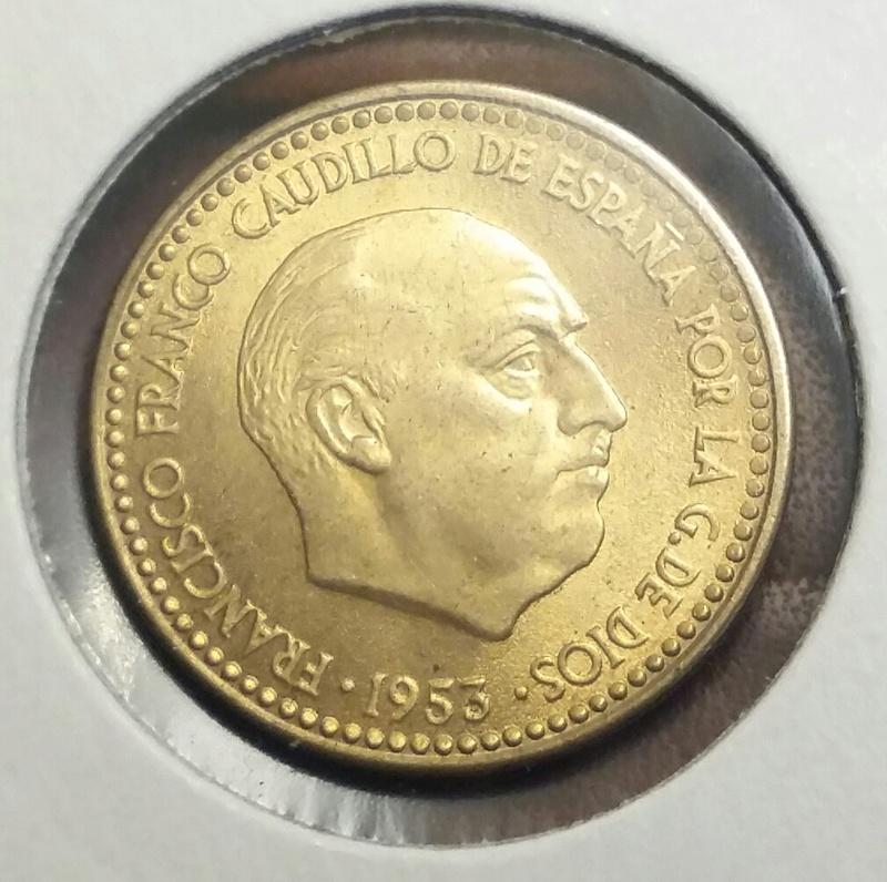 1 Peseta 1953 *54 Estado Español 20170712