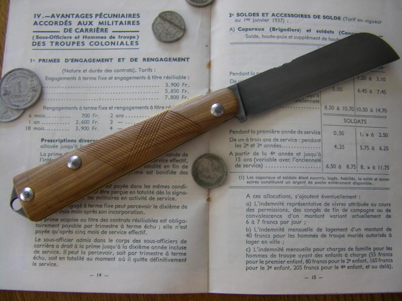 LE COUTEAU COLONIAL D'HIER ET D'AUJOURD'HUI Imgp6915