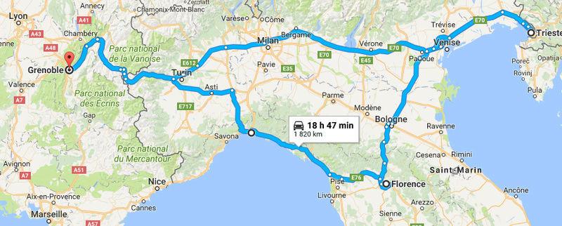 Tour estival d'Italie du nord Captur10