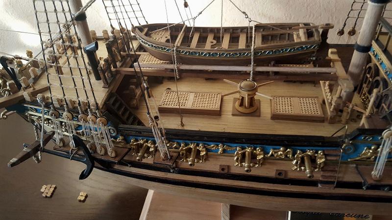Photos de la Royal Caroline de Panart au 1/47e (Fin de chantier en 2016) Caroli16