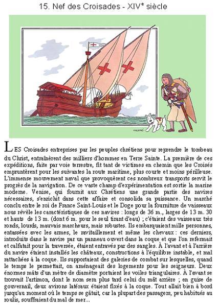 La Montjoye, interprétation d'une nef de Louis IX ( St Louis ) pour aller en terre sainte Croisa11