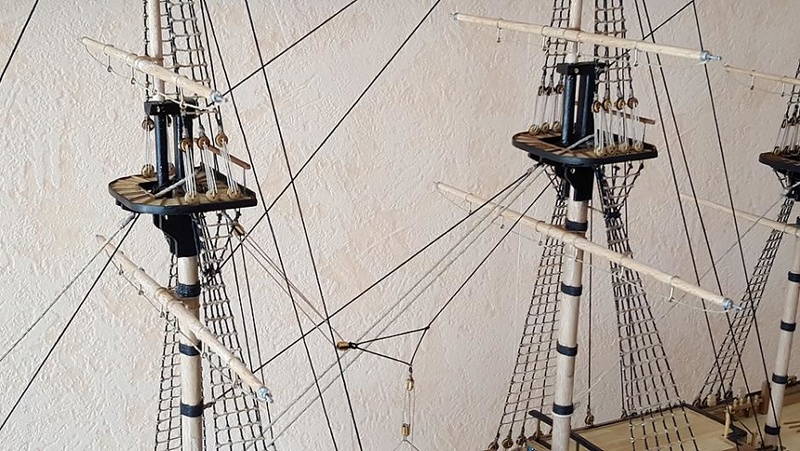 Modélisme Naval Le Radoub du Ponant - Portail Hauban11