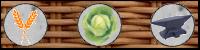 Blé/Légumes/forgeron