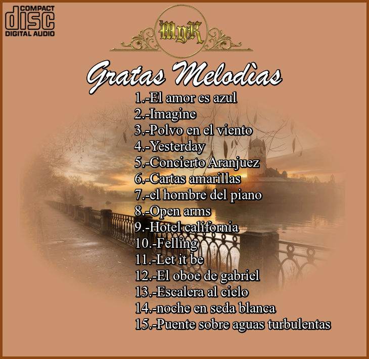 Cd  Josè Pierces -  gratas melodias en flauta traversa Vol-5 Gratas11