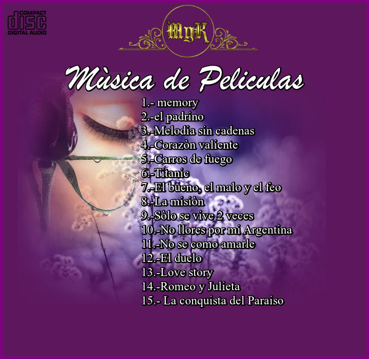 Cd Josè Pierces -Mùsica de Peliculas- Flauta Traversa Vol 2 Mysica10
