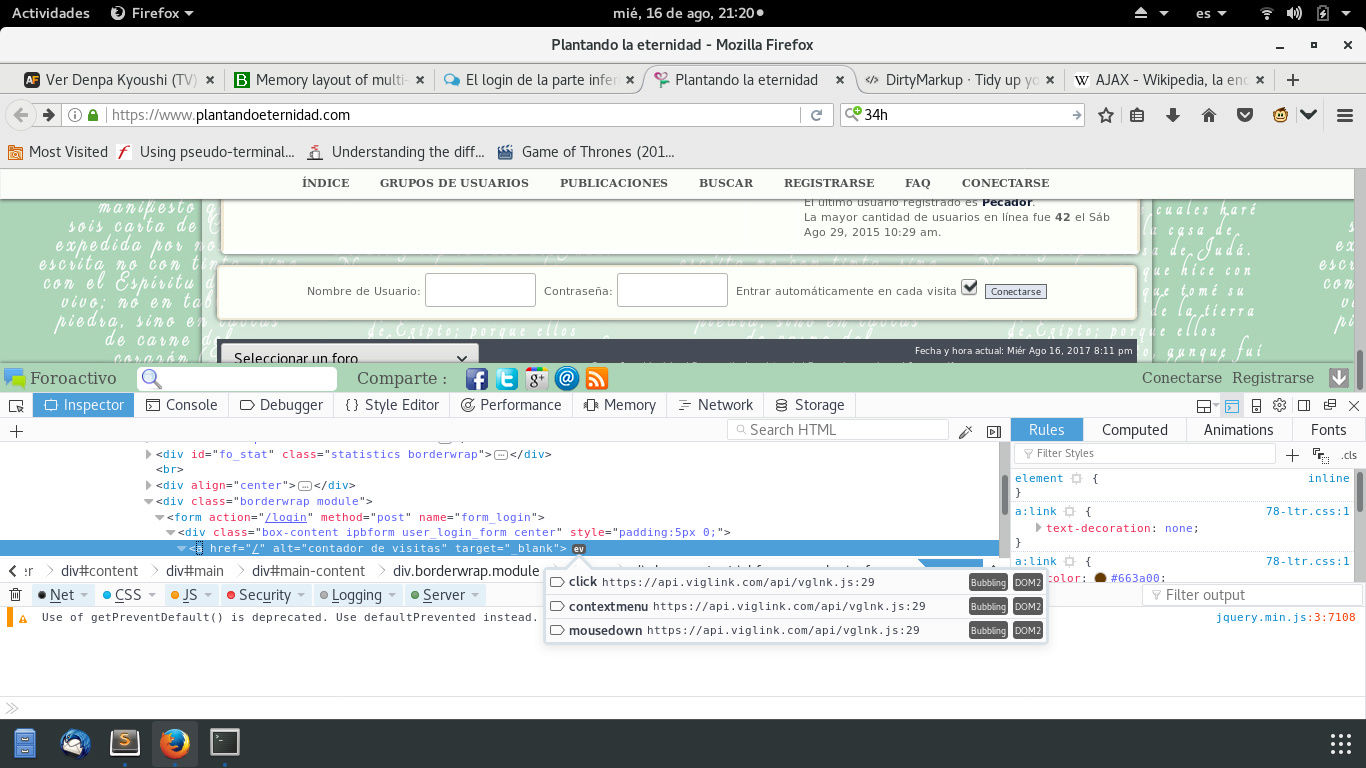 El login de la parte inferior del foro abre el foro en una nueva página cuando le doy click para poner mi nombre de usuario Captur10