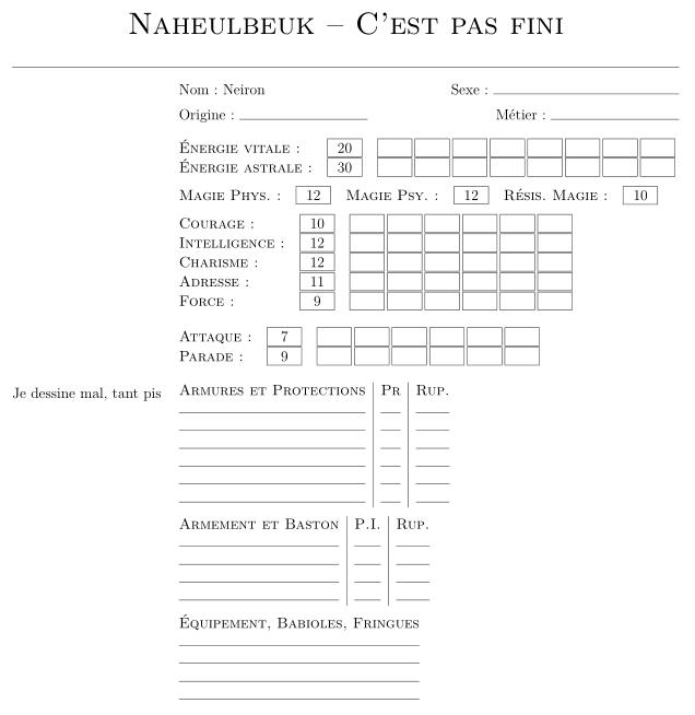 Naheulbeuk en LaTeX Cestpa10