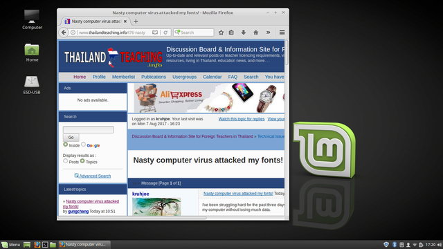 Nasty computer virus attacked my fonts! Screen12