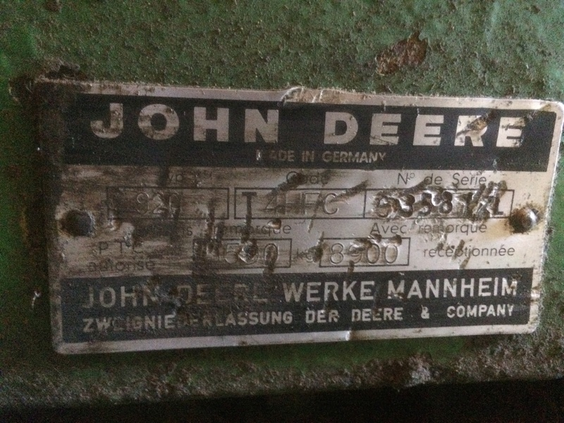 Restauration d'un John Deere 920 Img_0222