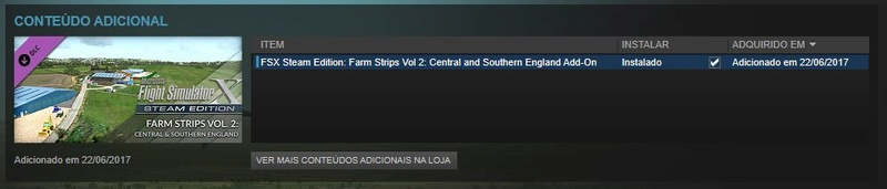 Conteudo adicional FSX Steam - Farm Strips - Dificuldade Se10