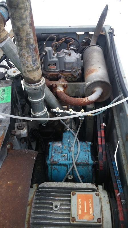 Pompe vacuum avec moteur diesel 20170310