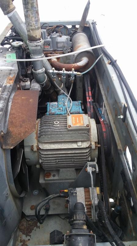 Pompe vacuum avec moteur diesel 20170311
