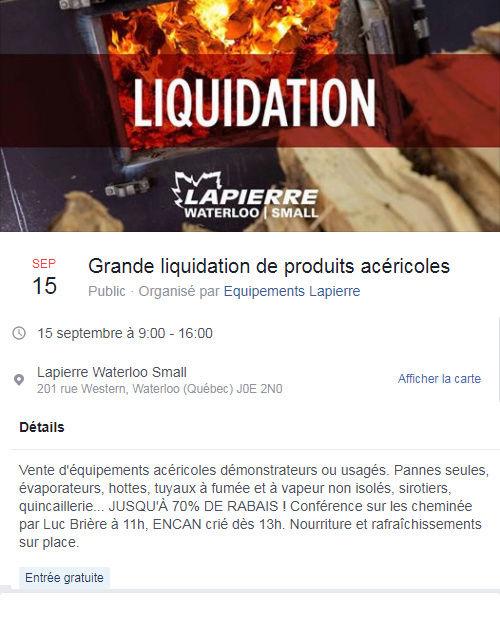 Liquidation Équipement Lapierre Liquid10