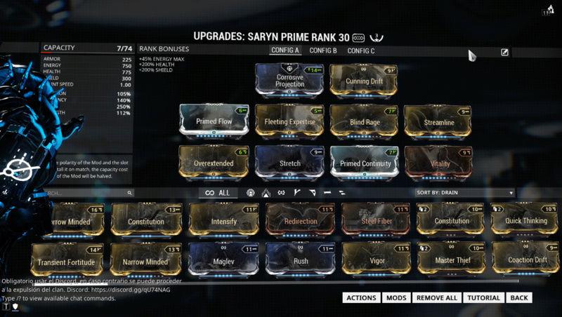 Saryn prime - Build  Mwo8v610