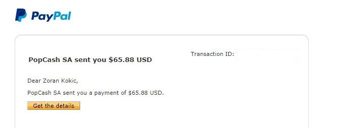 pitanje može li se nekako prebaciti novac sa payze na paypal Screen14