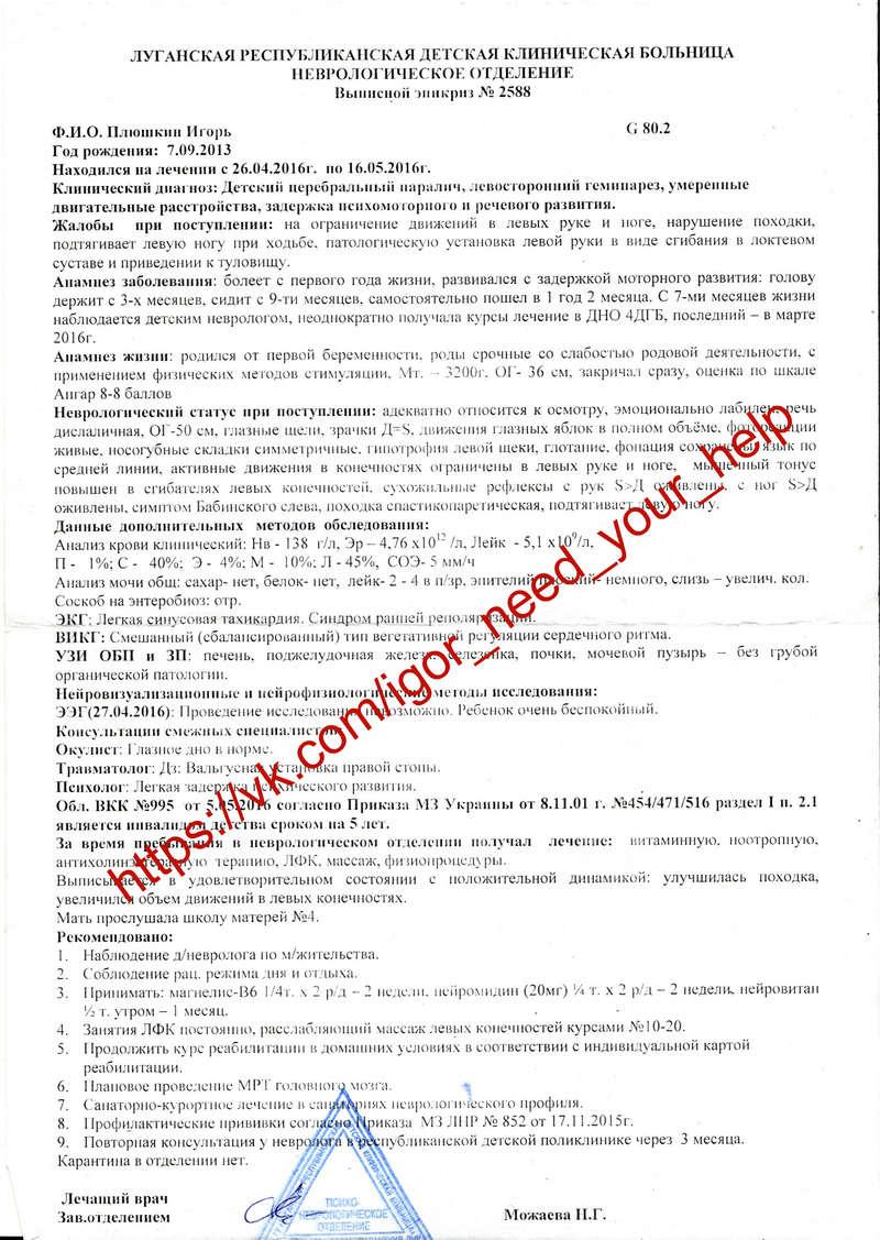 Плюшкин Игорек ДЦП Без помощи нам не справиться! Aai_dz11