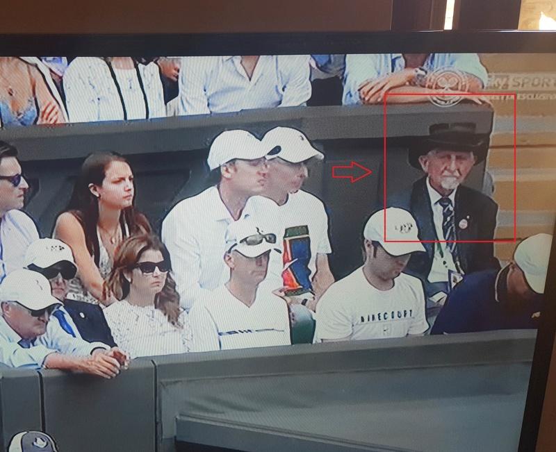 Signore sempre presente nel box a Wimbledon 20170710