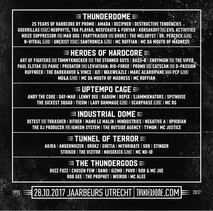 THUNDERDOME - An ode to Hardcore - 28 Octobre 2017 - Jaarbeurs - Utrecht - NL Line_u10