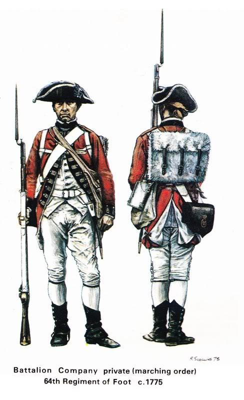 Le 64th régiment de marche britannique  4d0c9d10